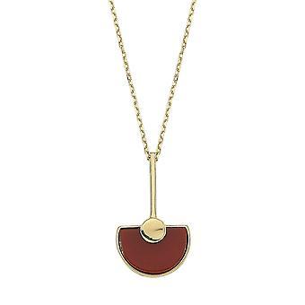 Achat Stein Gold Halskette