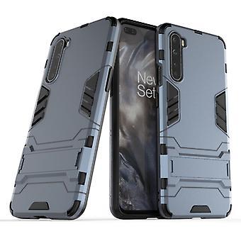עבור OnePlus Nord PC + TPU מגן עמיד לזעזועים עם מחזיק בלתי נראה (כחול כהה)