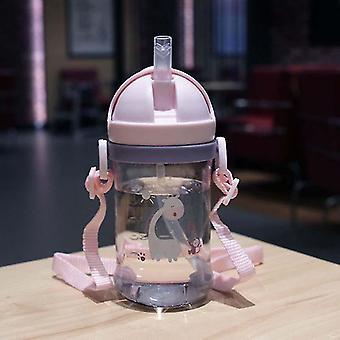 Babymatningskopp med halmdrickande flaska