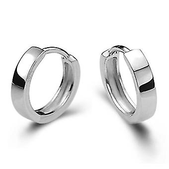 Sterling Silver Smooth Men And Women Models Silver Earring, Jewelry Brinco