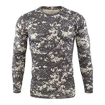 Spring Men Outdoor Sports Long Sleeve Tactical Camouflage T-shirt Breathable