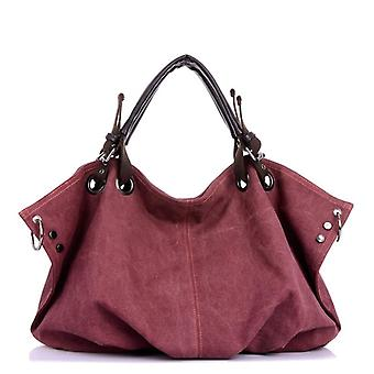 Women Canvas Messenger Bags, Crossbody, Solid Shoulder Bag