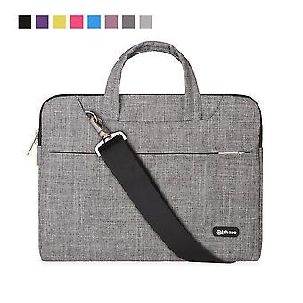 Qishare 13.3-14 inch laptop bag,multi-functional fabric laptop case,adjustable shoulder strap&suppre