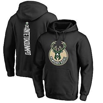 Milwaukee Bucks Giannis Antetokounmpo Loose Pullover Felpa con cappuccio WY109