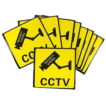 Cctv Video Surveillance Security Camera Alarm Sticker Waarschuwingsborden