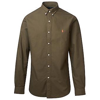 Ralph Lauren 710804257006 Men's Green Cotton Shirt