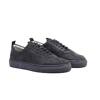 Grenson Sneaker 1 Suede Leather Trainers - Black