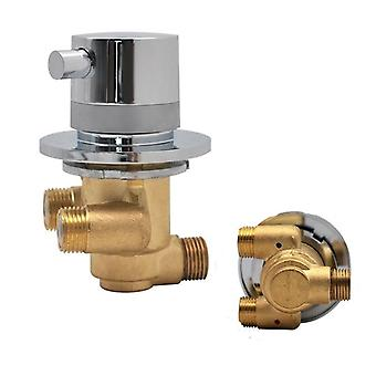 1 Way Output Thermostatic Brass Shower Faucets, Wall Mounted Cold & Hot Water