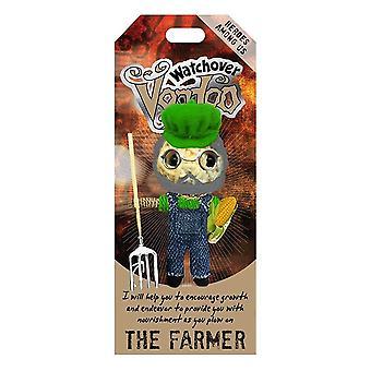 Watchover Voodoo Dolls Farmer Voodoo Doll Keychain Bag Tag