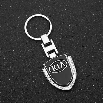 3d Metal+leather Emblem Car Key Chain / Rings Logo Voor Kia K2 K3 K5 K9 Ceed