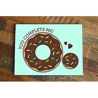 Grappige Donut Hole Love Card