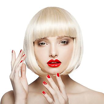 Brand Mall Wigs, Lace Wigs, White Wigs Realistic Short Hair With Bangs