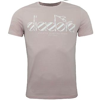 Diadora Pink Smoke Short Sleeved Crew Neck Mens T-Shirt 50186