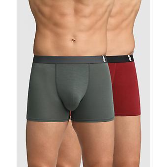 Lot Of 2 Boxers Dim Underwear - Grey