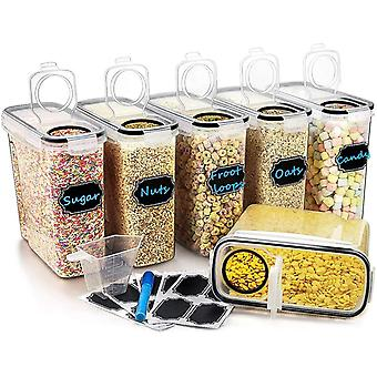 Large Cereal  Dry Food Storage Containers, Wildone Airtight Cereal Storage Containers for Sugar, Flo