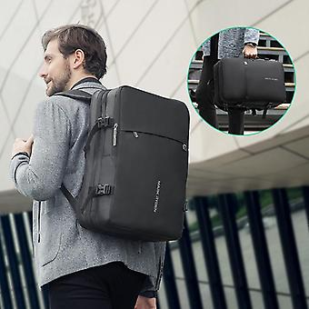 Mark Ryden Men Backpack Fit 17 Inch Laptop Usb Recharging Multi-layer Space
