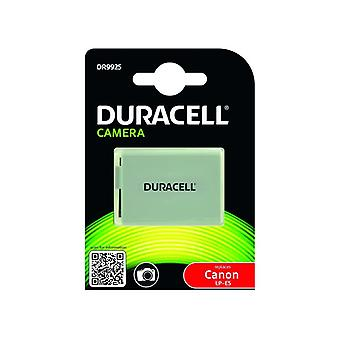 Duracell premium analog canon lp-e5 battery for eos 450d 500d 1000d li-ion 7.4v 1020mah 1