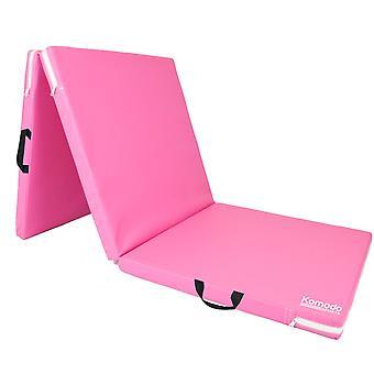 Komodo Tri Folding Yoga Mat - Pink