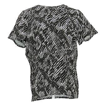 G.I.L.I. consiguió que le encanta Mujeres's Top Crew Cuello Camiseta Negro A309733