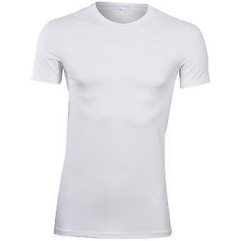 Ermenegildo Zegna Stretch Cotton gola camiseta, branco