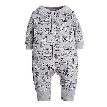 Baby Romper With Jungle Animal Pattern