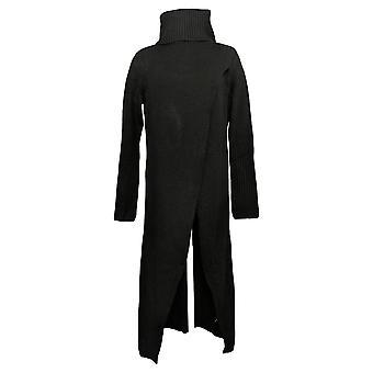 G By Giuliana Women's Sweater Black Crossover Pullover Maxi Black 718-482