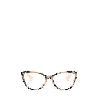 Miu Miu MU 04SV havanna vaaleanpunainen naisten silmälasien päällä