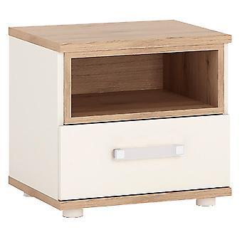 Kiddie 1 Drawer Bedside Cabinet Opalino Handles