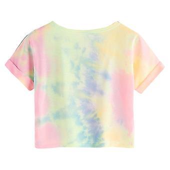 Women Summer Cute Short Sleeve Crop Top