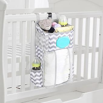 Vauvansängyn ripustuspussi Irrotettava vaippa leluvarasto vauvansängyn vastasyntyneelle vauvalle