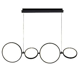 Zoeklicht Cirque 4 Light Led Ring Hanger, Mat Zwart