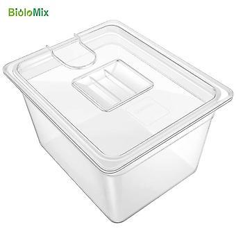 Recipiente Sous Vide com tampa 11 litros banho de tanque de água para circulação culinária