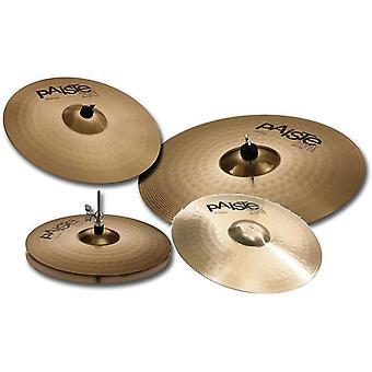 "Paiste 201 bronze cymbal set, 14"", 18"", 20"", free 16"" crash, 015us16"