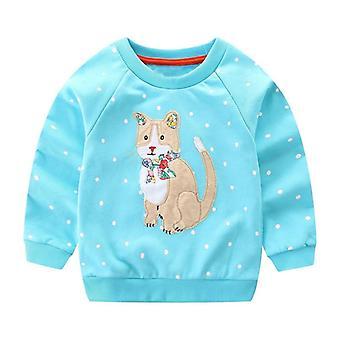Baby Spring Dinosaur Cartoon Hooded Söta Outwear Sweatshirt