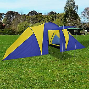 Family tent dome tent camping tent 6 people Yellow