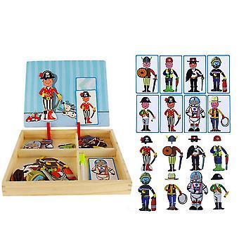 Varhaiskasvatus Puzzle Magnet Book, Useita kohtauksia ja yhdistelmiä, Pulmaleluja