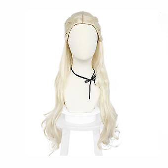 Game Of Thrones Perruques Halloween Daenerys Targaryen Perruque Cap Blanc