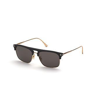Tom Ford Lee TF830 01A Skinnende Svart/Røyk Solbriller