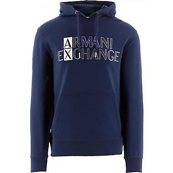 Armani Exchange Blue Regular Fit Sweatshirt