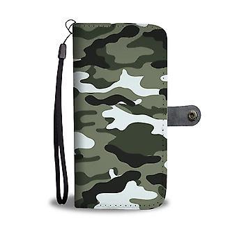 Camouflage Wallet Phone Case W/ Rfid Blocker