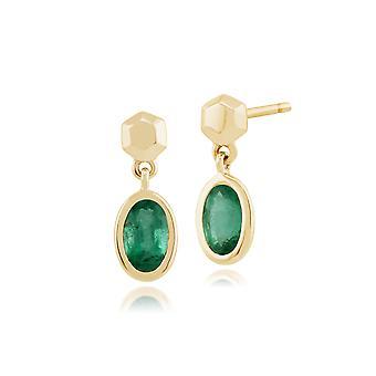 Gemondo 9ct geel gouden 0.51ct Emerald Drop Oorbellen
