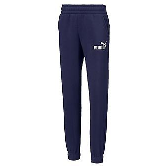 Puma Temel Logo Çocuk Polar Sweat Track Pant Pantolon Lacivert