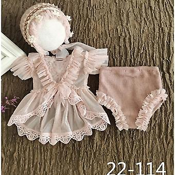 Newborn Photography Props, Handmade Lace Romper For Baby Photo Shoot Clothes
