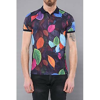 Multicolor printed polo t-shirt