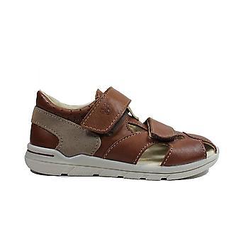 Ricosta Kaspi 3020100-263 Tan Leather Boys Rip Teippi suljettu sandaaleissa
