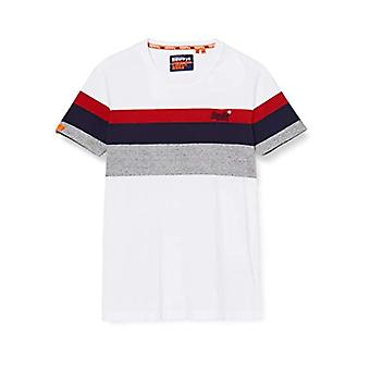 Superdry Ol Classic YD Stripe T-Shirt, Weiß (Optic 01c), XL Herren