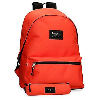 Pepe Jeans Aris Backpack with Case, 44 cm, Orange