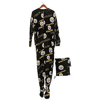 NFL Women's Keystone Union Suit Steelers W/ Cinch Bag Black A370755