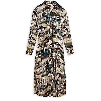 Sandwich Clothing Patterned Midi Shirt Dress