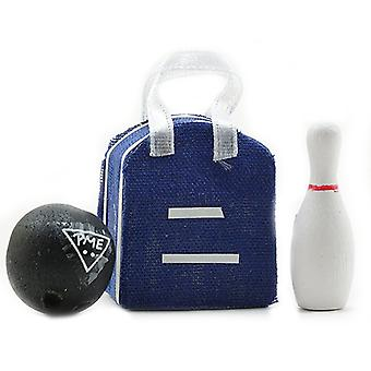 Dolls House Bowling Bag Ball & Skittle Set Miniature 1:12 Scale Accessory
